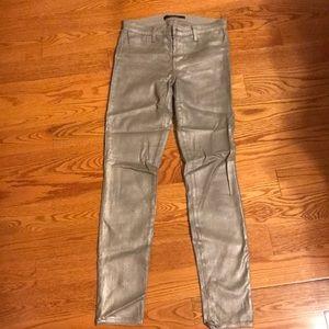 J Brand super skinny metallic jeans